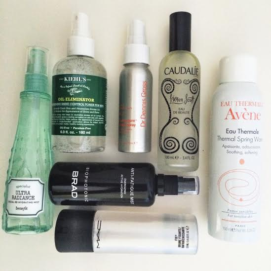 Facial Mists Not To Be Missed –  Avène, MAC, Dr. Dennis Gross, BRAD, Benefit, Caudalíe and Kiehl's