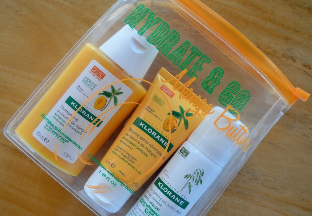 Wash & Go Places – Klorane Hydrate & Go Mango Butter Kit