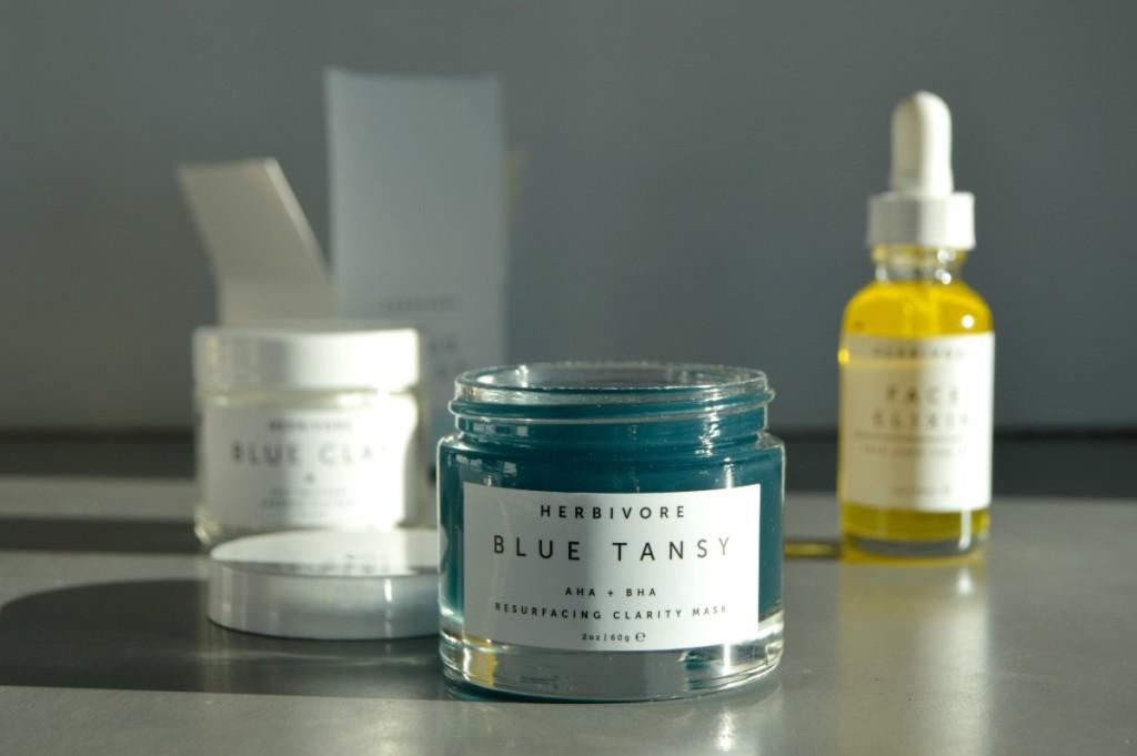 HERBIVORE Blue Tansy AHA + BHA Resurfacing Clarity Mask