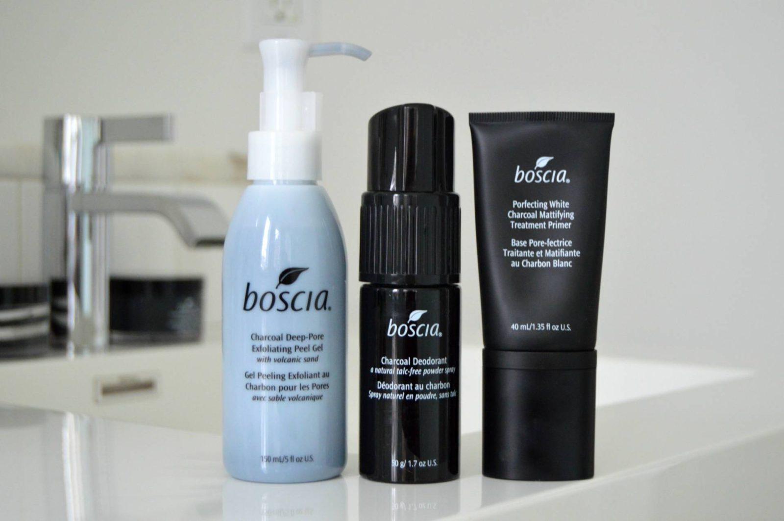 Charcoal by Boscia: NEW Deep-Pore Peel Gel, Porefecting Primer & Deodorant
