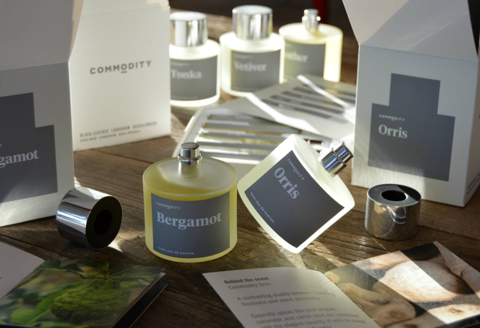 #CurrentlyWearing: Commodity Platinum Collection ft. Orris, Bergamot, Vetiver, Tonka & Leather