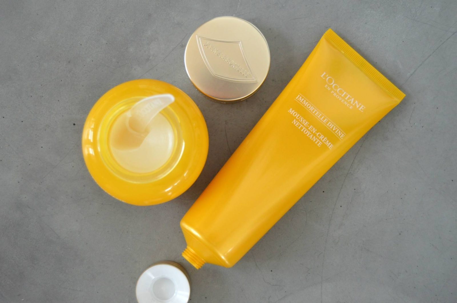 First Impressions: L'OCCITANE Immortelle Divine Cleansing Balm and Foaming Cleansing Cream