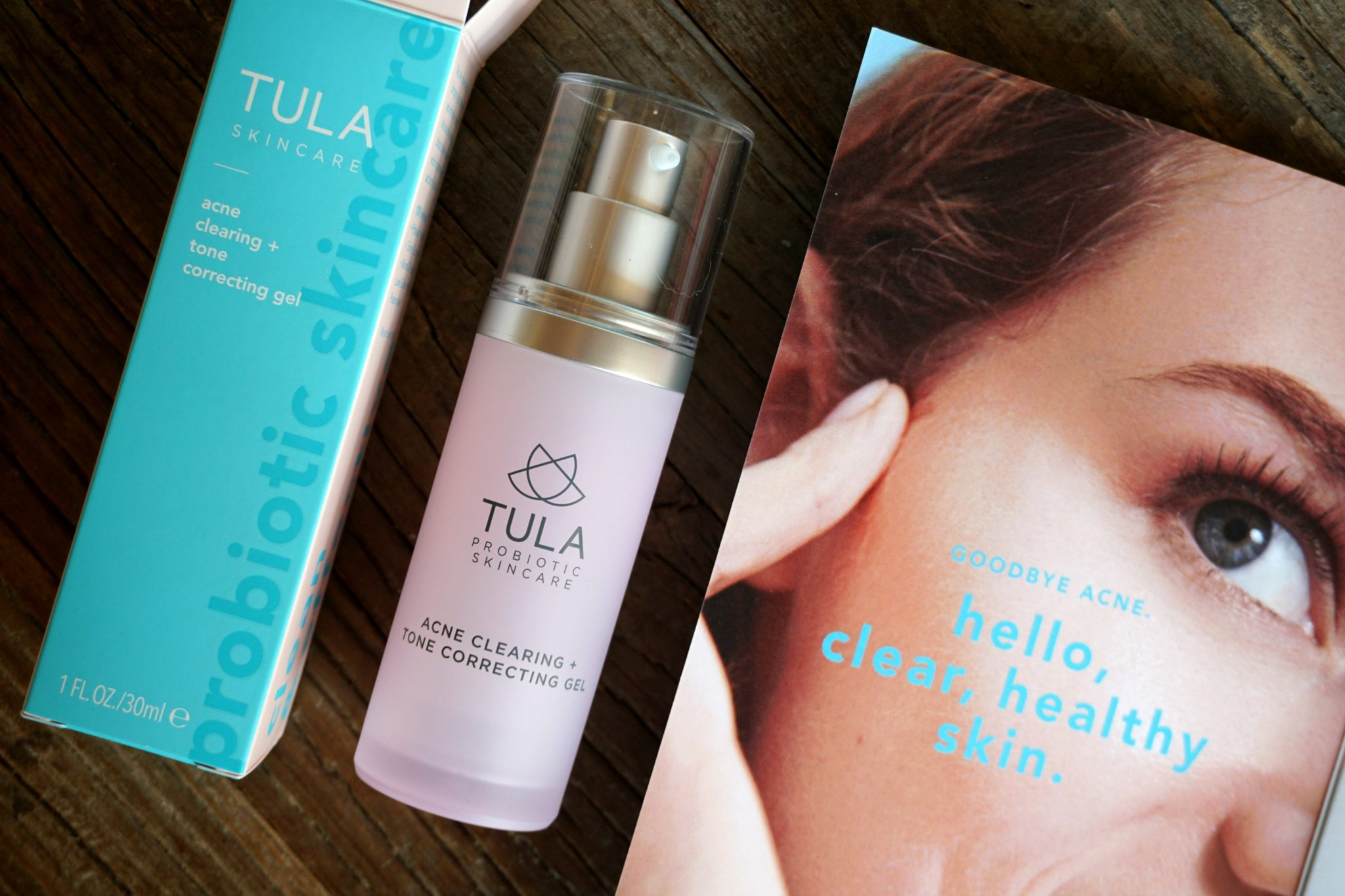 The new TULA Acne Clearing + Tone Correcting Gel & an